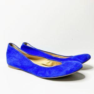 J. Crew Cece Suede Ballet Flats, Royal Blue